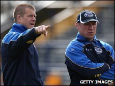 Director of rugby Andy Key, left, and head coach Neil Back