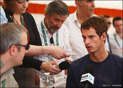 Andy Murray has a bye in the first round but met the media on Monday to discuss his prospects on clay