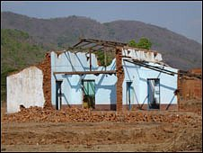 Derelict homes in Kandhamal
