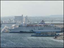 Cruise ship in Cuba