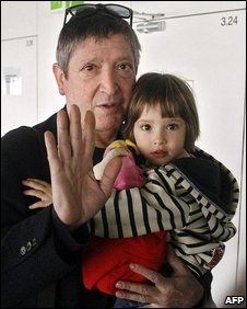 Jean-Michel Andre and daughter Elise, 14 April, 2009