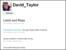 David Taylor's Twitter site