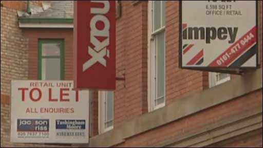 'To Let' signs on buildings