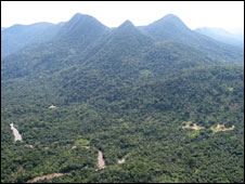 Mountains around Pinga
