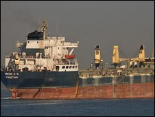 File pic of Greek-managed bulk carrier MV Irene