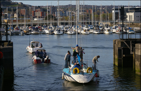Boats arriving home at Swansea marina (Alan Watkins).