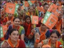 BJP supporters near Ahmadabad