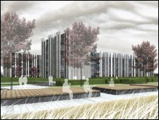 Artist's impression of joint campus building