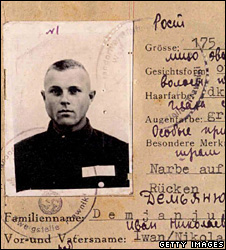 John Demjanjuk's wartime ID card (US Department of Justice photo)