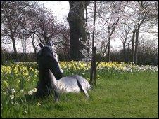 Bronze statue of a horse
