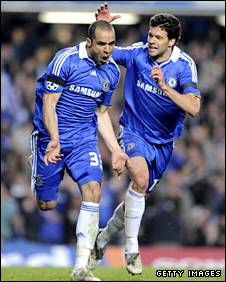 Alex (left) and Michael Ballack (right)