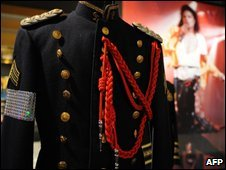 A jacket for sale in the cancelled auction in Beverly Hills, California (13/04/2009)