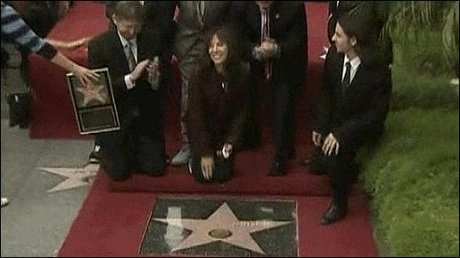 Olivia Harrison unveils the star