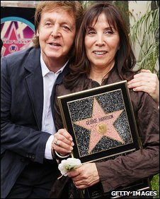 Sir Paul McCartney and Olivia Harrison