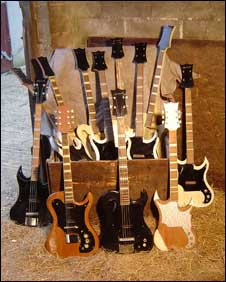 Collection of Supersound guitars