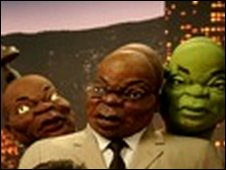 Puppets of Jacob Zuma created by Z-News