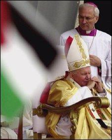 Pope John Paul II celebrates Mass in Manger Square, Bethlehem  in 2000