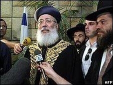Israel's chief Sephardic rabbi Shlomo Amar