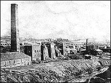 Hirwaun Ironworks at the end of the 19th Century