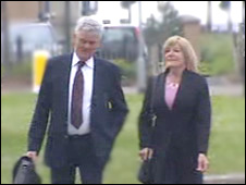 Dale and Sally Foster arriving in court
