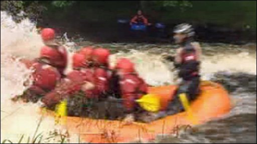 White water rafting raft