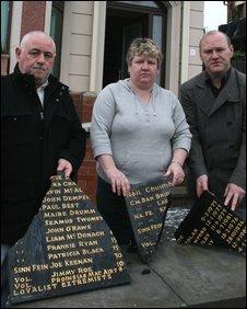 Sean Lennon, Sue Ramsey and Paul Maskey