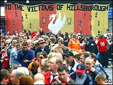 Fans arriving at Anfield
