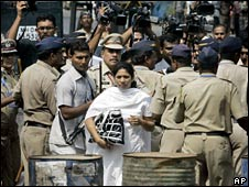 Anjali Waghmare outside court, 15/04
