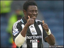 Newcastle and Nigeria striker Obafemi Martins