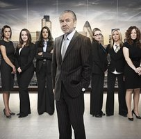 Sir Alan and some of the female Apprentice contenders