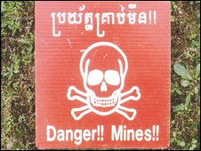 Mines warning sign