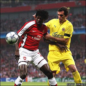 Emannuel Adebayor, Arsenal; Diego Godin, Villarreal