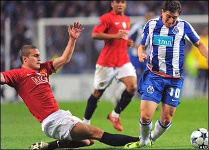 Nemanja Vidic, Manchester United; Cristian Rodriguez, Porto