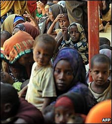 Somali refugees at a camp in Kenya (2007 file image)