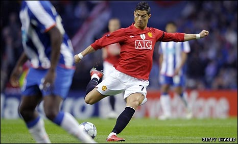 Cristiano Ronaldo strikes his spectacular goal