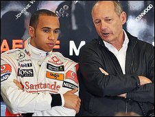 Lewis Hamilton and Ron Dennis