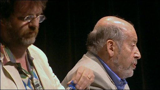 Sir Clement Freud (right)