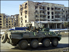 Russian troops in Grozny (18 February 2006)