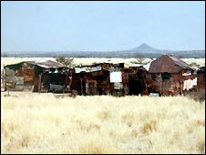 Home of poor Namibian farmer