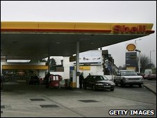 Filling station forecourt