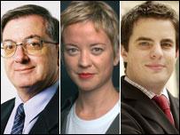 The experts: Ray Boulger, Paula John and David Hollingworth