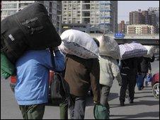 Mirgrant workers in Beijing