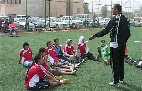Kurdish women footballers