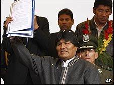 Bolivian President Evo Morales, file pic