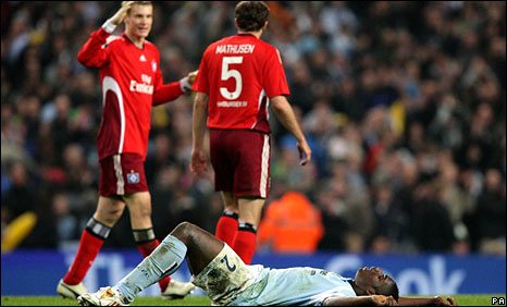 Micah Richards missed a late chance as City tried to equalise