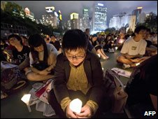 Candlelight vigil, Victoria Park, Hong Kong, 4 June 2008