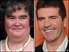 Susan Boyle and Simon Cowell