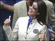 Bollywood actress Shilpa Shetty in Cape Town on 16/4/09