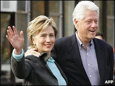Hillary and Bill Clinton - 2007 file photo
