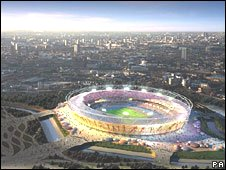 Artist's impression of Olympics stadium